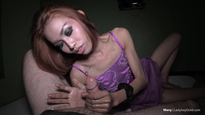 LadyBoyGold.com - - Many - Princess Dress Bareback Handjob [HD 720p]