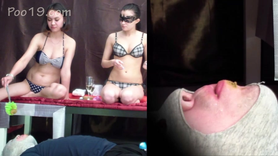 Double Femdom: 2 mistresses tore my mouth and crapped into it - (Smelly Milana) [FullHD 1080p]