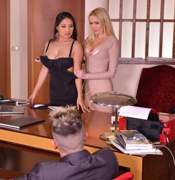 DDFNetwork/HandsonHardcore: - Amber Jayne, Cristina Miller - - Threesome Rimming Thirst (2018) HD - 720p