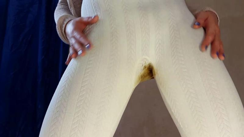 Panty Scat Anna Coprofield White Pants FullHD 1080p