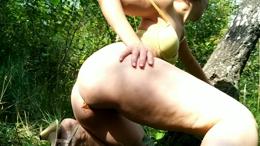 Outdoor Scat nastygirl Hot striptease poo and pee in park FullHD 1080p