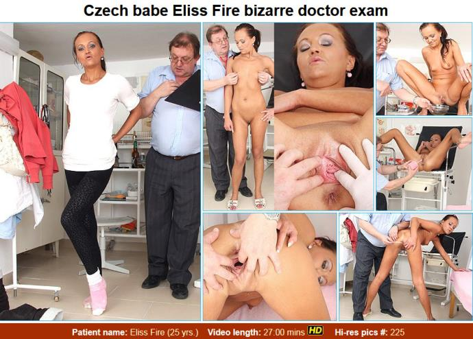 Eliss Fire - 25 years girls gyno exam [HD, 720p]