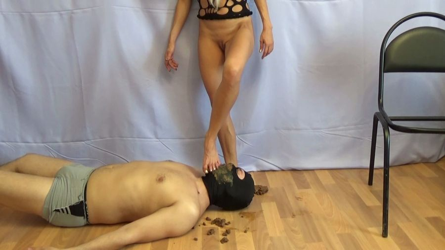 Femdom: Marcos579 - Swallow My Monster Thick Shit [HD 720p] Humiliation, Shitting