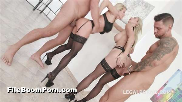 LegalPorno: Natalie Cherie, Lara De Santis, Neeo, Rocket, Thomas Lee, Angelo, Dylan Brown, Larry Steel - Fuck you, we go 2on2 Bimbo Blondes Lara De Santis & Natalie Cherie Balls Deep Anal, DAP, Squirting, Anal Fisting GIO834 [SD/480p/1.12 GB]