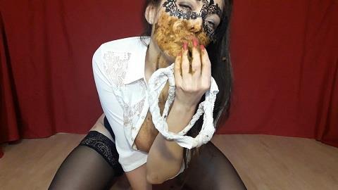 ScatLina - I eat shit from panties (15.11.2018/ScatShop.com/Scat/FullHD/1080p)