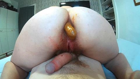 Curvykitten92 - Period fuck shit filled anal facial [FullHD, 1080p] [ScatShop.com]
