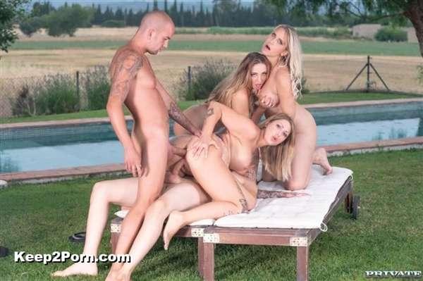 Julia Pink, Kim Davis, Mia Blow - Busty MILFs Enjoy Summertime Orgy [PrivateFetish, Private / HD]