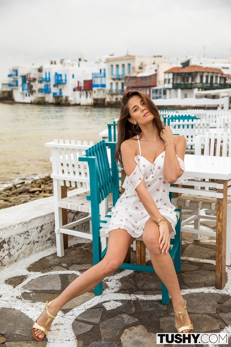 Tushy: A Quiet Weekend In Mykonos - Little Caprice, Alexis Crystal [2018] (HD 720p)