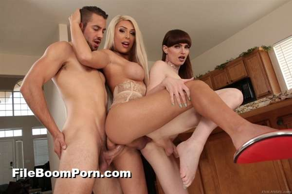 EvilAngel: Dante Colle, Natalie Mars, Chanel Santini - 2 T-Girls + 1 Stud = Double-Anal 3-Way [SD/400p/341 MB]