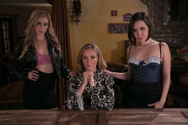 Jenna Sativa, Mona Wales, Kali Roses - The Family Business [FullHD 1080p] 2018