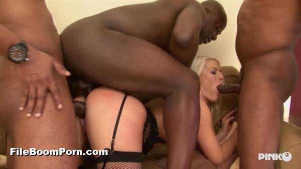 PinkoClub: Blanche Bradburry - Blonde And Depraved Girl Gets Fucked By Four Black Studs [HD/720p/1.15 GB]