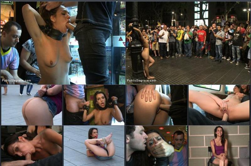 [PublicDisgrace] - Samia Duarte - Spanish Hottie Naked and Fucked in Public (2018 / HD 720p)