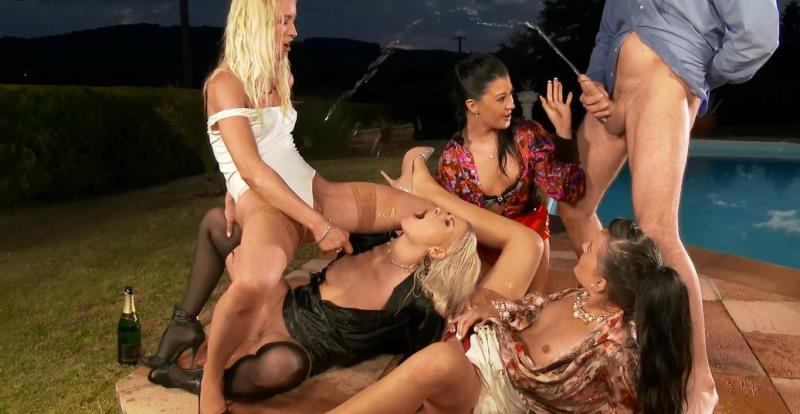 SinDrive: Uma, Yenna, Lolly, Samantha Johnson Keeping The Piss Party Plowing Along By The Pool [HD 720p]
