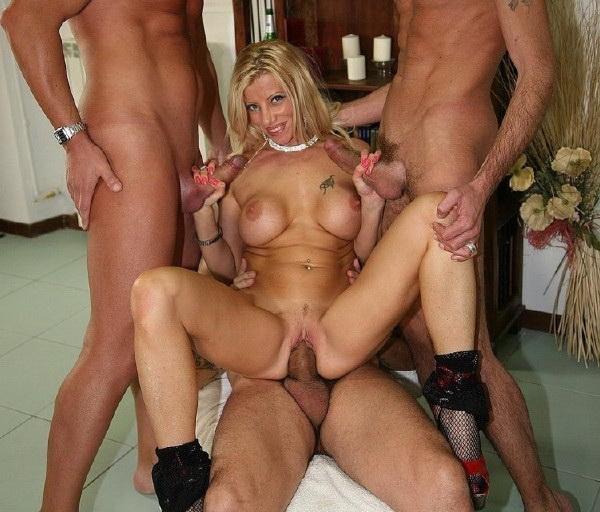 EuroGangBangs.com/XFreaX.com - Lara De Santis- Gang Bang with Italian blond ...