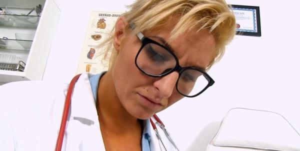 Brigitte - Hot legs Milf doctor Brigitte eats patient cum [HD 720p] 2018