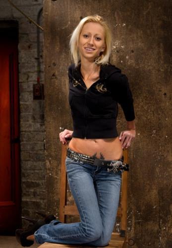 Rene Phoenix - Hot flexible blond suffers a Category 5 suspension (HD)