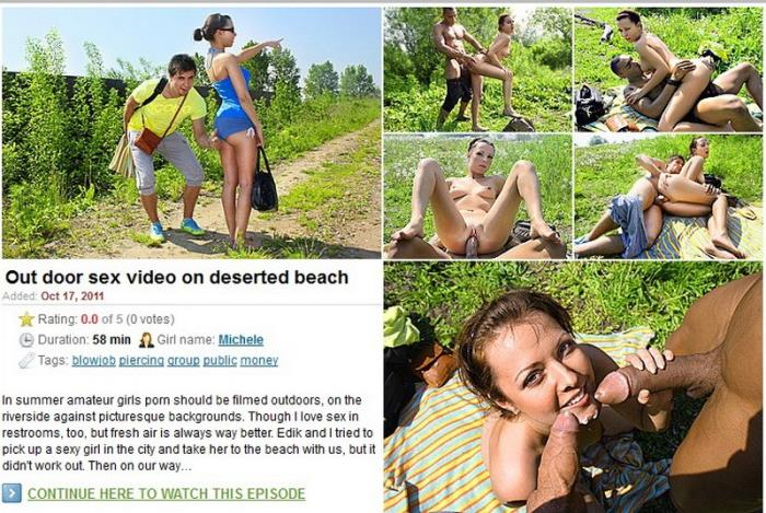 Michele - Out door sex video on deserted beach (HD 720p) - MyPickupGirls - [2019]