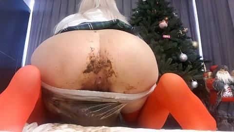 Thefartbabes - Christmas Plastic Panties [FullHD, 1080p] [ScatShop.com]