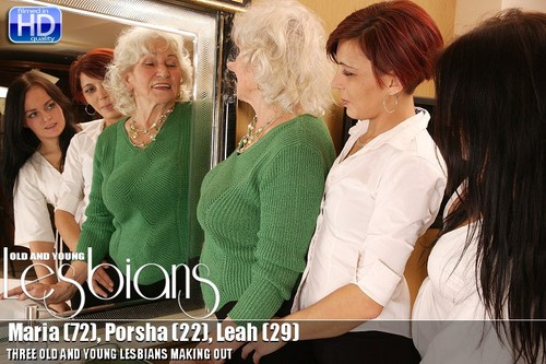 Maria (72), Porsha (22), Leah (29) - Lesbian Alex 266 [HD 720p] 2019