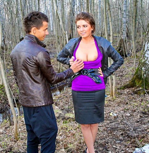 Nastya - In the park with bosomy stranger ... (SD)