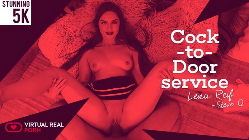 Lena Reif: Cock-to-door service (4K / 2160p / 2019) [VirtualRealPorn]
