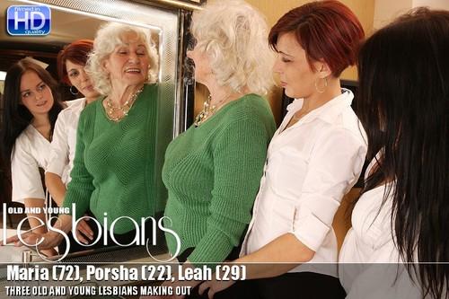Mature.: Maria (72), Porsha (22), Leah (29) - Lesbian Alex 266 (2019) 720p WebRip