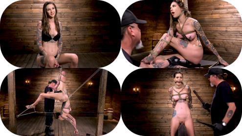 Rocky Emerson - Tall Tattooed Slut in Grueling Bondage is Blissfully Suffering (19.01.2019/Hogtied.com, Kink.com/SD/540p)