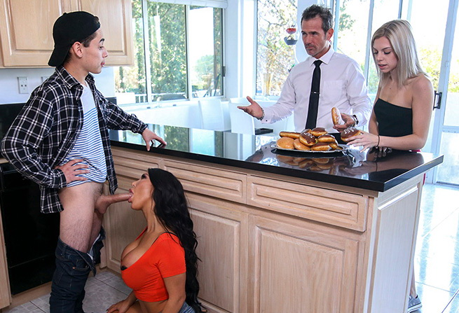 August Taylor - August Taylor Creampied by Her Step-Son (BangBros) [SD 480p]