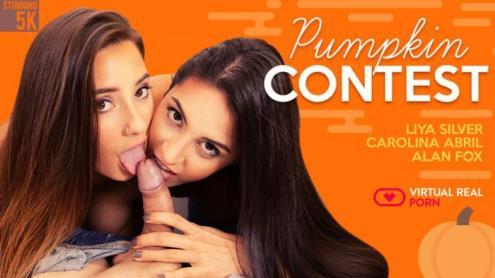 Carolina Abril, Liya Silver - Pumpkin contest (23.01.2019/virtualrealporn.com/3D/VR/UltraHD 4K/2700p)