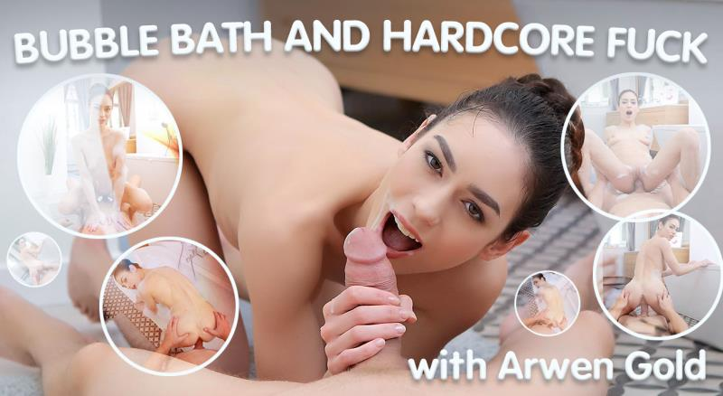 Arwen Gold - Wet Brunette Enjoys Bubble Bath and Hardcore Fuck (TmwVRnet) FullHD 1080p