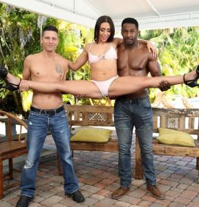 Lilly Hall, Tyler Steel, Jax Slayher - BBC & hard pounding from Tyler & asks for more her 1st ever DP check it out ! AA009 (2018/SD)