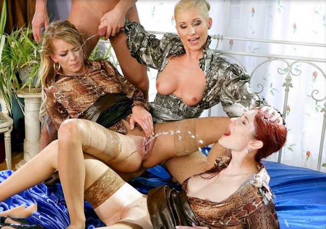 Adel Sunshine, Vanessa, Kate Gold - Watch Us Pee And Suck And Fuck And Romp And Stomp!!! [SinDrive] 2019