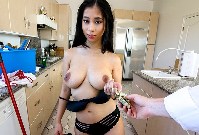 Jade Kush - Jade Fucks a Creeper After Cleaning (BangBros) [SD 480p]