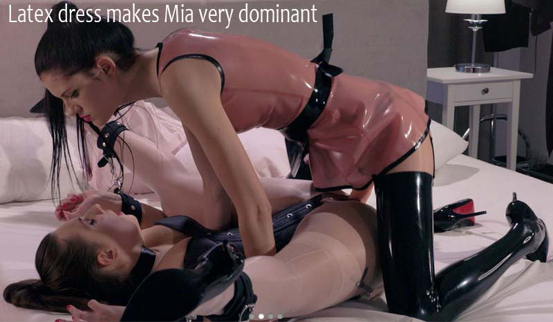 StraplessDildo: Latex dress makes Mia very dominant - Mia, Pavla [2018] (FullHD 1080p)