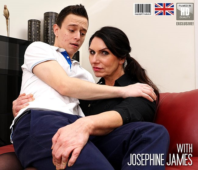 Josephine James: This young boy loses his virginity to big breasted Josephine (FullHD / 1080p / 2019) [Mature]