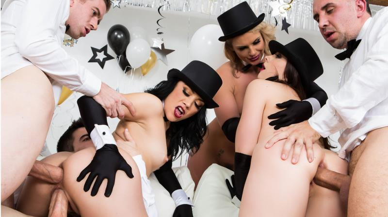 Chanel Preston, Kristina Rose, Phoenix Marie: Brazzers New Years Eve Party (SD / 480p / 2019) [Brazzers]