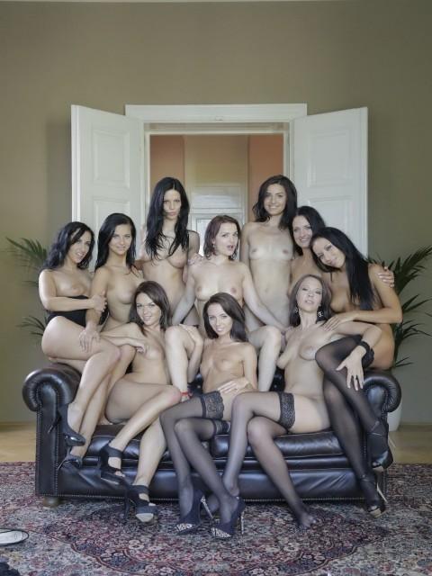 Erica Fox, Gina Devine, Maria Mia, Bailey Ryder, Terra Sweet, Frida, Getting Cute, Nicole Vice, Sandy Ambrosia: Lesbian Party (FullHD / 1080p / 2019) [MagmaFilm]