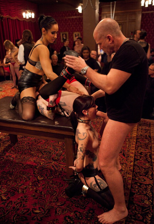 Lily LaBeau, Krysta Kaos, Skin Diamond - Spoiled slave is challenged by an eager trainee to a gambit of prowess, protocol, and sex. (Kink) [HD 720p]