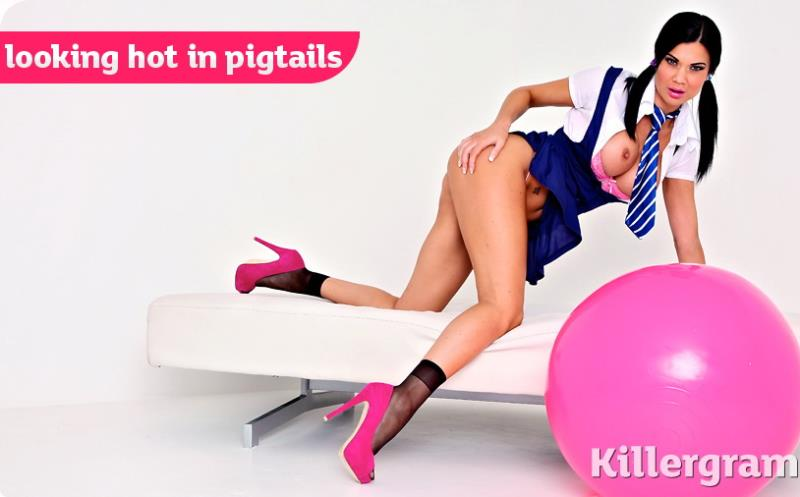 KillerGram: Jasmine Jae Looking Hot In Pigtails [HD 720p]