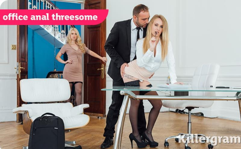 Killergram: Misha Cross,Carmel Anderson Office Anal Threesome [HD 720p]