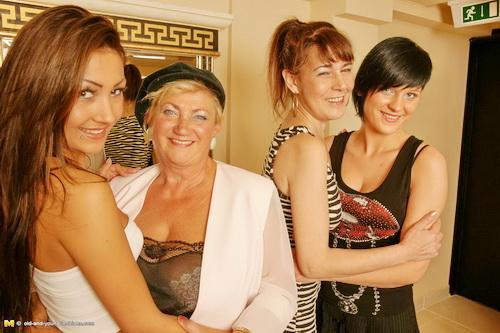 Magdalena K., Petra K., Lolita , Ashly - Old-and-Young-Lesbians