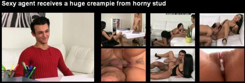 Zyzzje Sikura,Anna Rose - Sexy agent receives a huge creampie from horny stud (2019/HD)