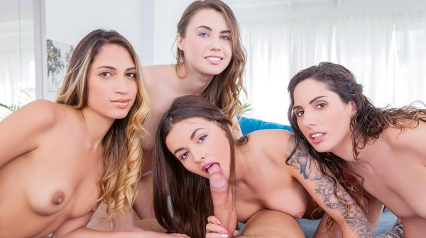 Elle Rose, Lara Romero, Linda del Sol and Baby Nicols - Share a stallion [FullHD 1080p] 2019