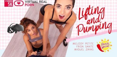 Frida Sante, Melody Petite - Lifting and pumping - 5K (13.02.2019/Virtualrealporn.com/3D/VR/UltraHD 4K/2700p)