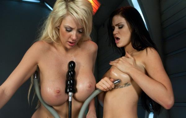 Courtney Taylor, Kendall Karson - The Boob Duo: Storming The Sex Machines with Their tits [SD 540p] 2019
