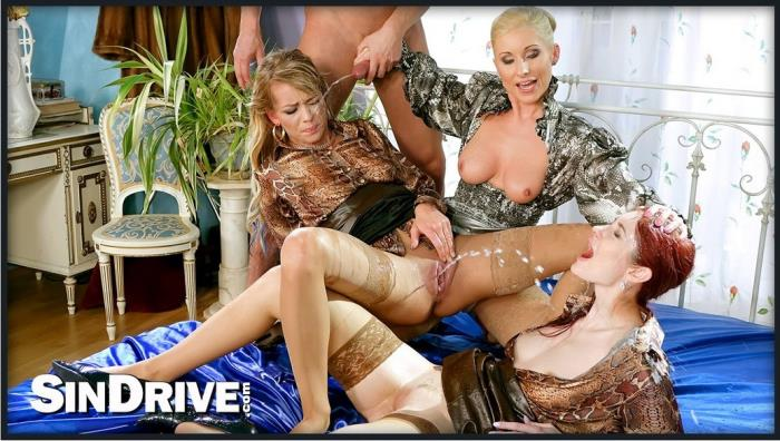 Adel Sunshine, Vanessa, Kate Gold - Watch Us Pee And Suck And Fuck And Romp And Stomp!!! ... Because, A Pissy Party Killed Nobody... (HD 720p) - SinDrive - [2019]