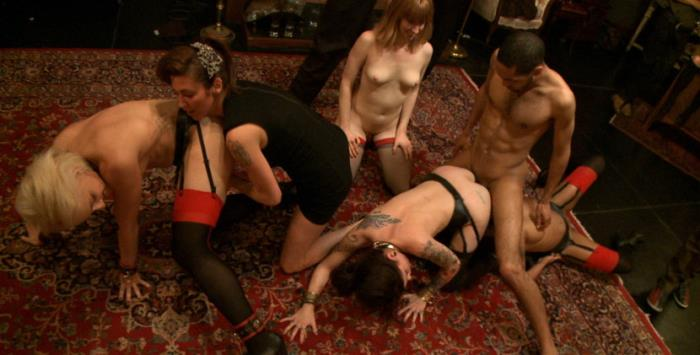 Princess Donna Dolore, Dylan, Krysta Kaos, Skin Diamond and Mallory Malone - Squirt Festival: an all slaves on deck celebration of squirt with Princess Donna (HD 720p) - Kink - [2019]