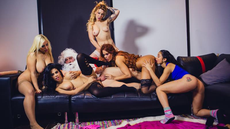 Blondie Fesser, Gala Brown, Jade, Kesha Ortega, Sonia Lion - Christm-ass Family Affairs (CumLouder) [SD 480p]
