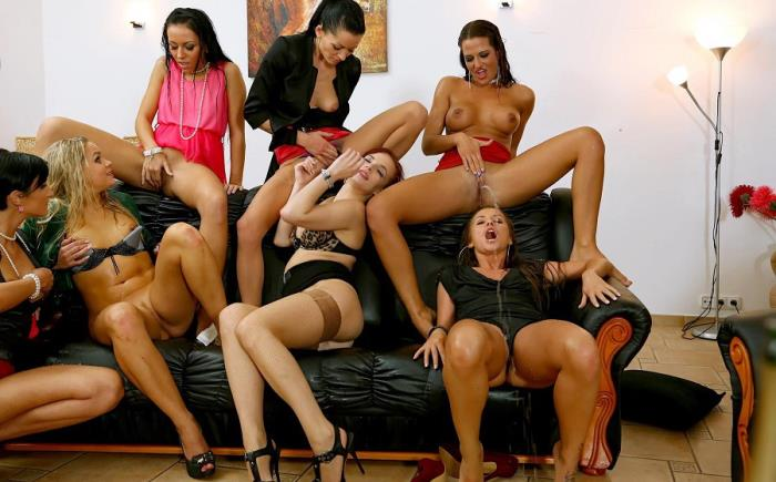 Barra Brass, Adel Sunshine, Leila Smith, Gabrielle Gucci, Bella Baby, Bailey, Nicole Vice - Russian Piss Roulette Party Part 2 (HD 720p) - Tainster - [2019]