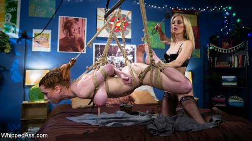 Mona Wales, Pepper Hart - Kinky Lesbian Hookup: Mona Wales Torments and Fucks Hot Redhead [HD, 720p] [WhippedAss.com, Kink.com]